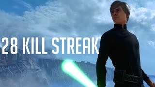Star Wars Battlefront: Luke 28 Kill Streak (Funny Moments w/ Friends)