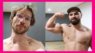 KOSSO LEERT MIJ BODYBUILDEN | TRAINEN MET KOSSO - Giels Road To Sixpack