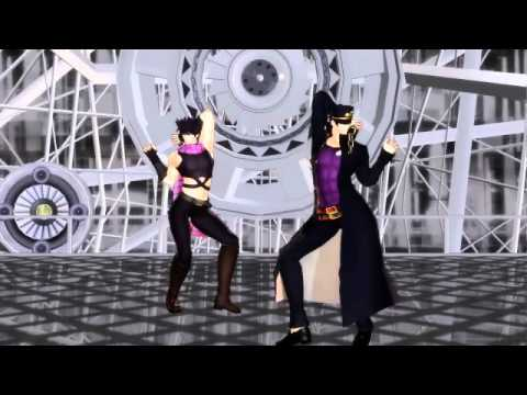 JoJo's Bizarre Adventure [MMD][Joseph & Jotaro~Get Up & Move]