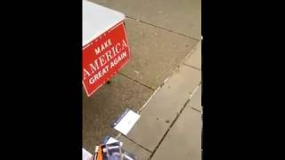 Trump Table Attacked at University of Pittsburgh