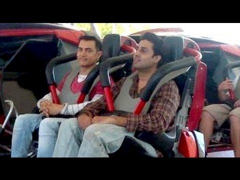 Aamir Khan, Abhishek Bachchan bond on Dhoom 3 shoot