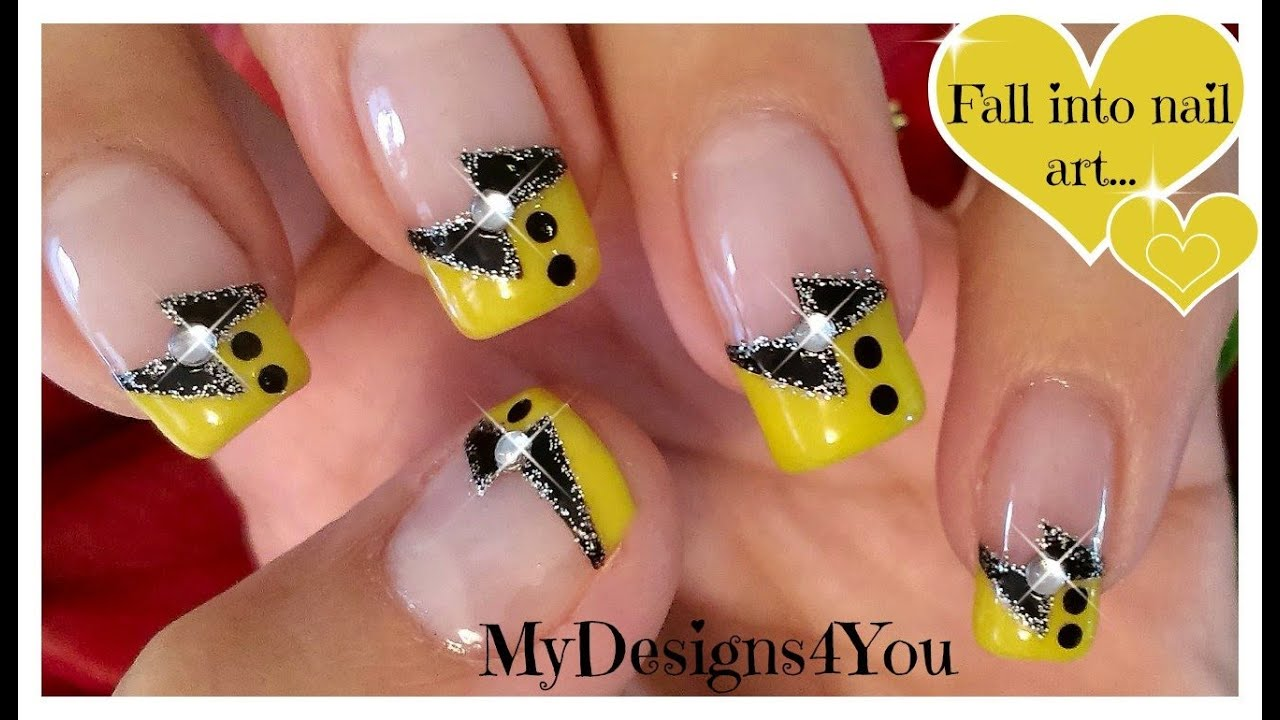 And Yellow French Tip Nail