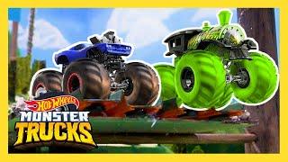 MONSTER TRUCK JUNGLE RACE! | Monster Trucks | Hot Wheels
