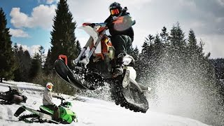 This is FUN!! - Snowbike session 2017