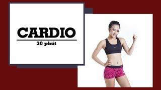 30 phút cardio giảm mỡ toàn thân (All level)   30 minutes cardio fat burner   Hana Giang Anh