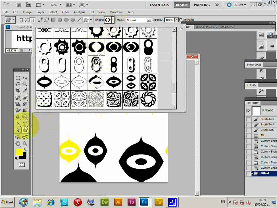 how to draw shapes on photoshop cs3