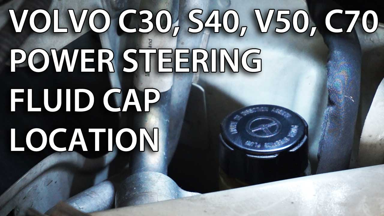 Where is the power steering fluid reservoir in Volvo V50, S40, C30, C70 - YouTube