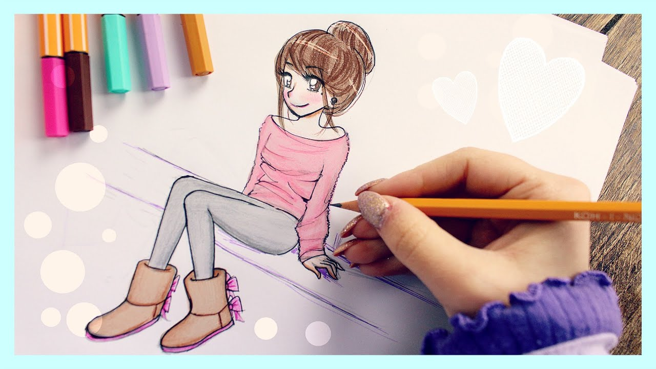 Girl Drawings Draw a Girl With Uggs ❤