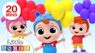 Balloon Song | Let's Kart Race! | Nursery Rhymes by Little Angel