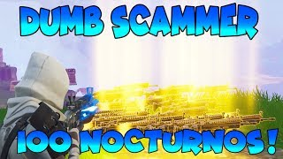 Dumb Scammer Nearly Scams 100 Nocs! (Scammer Gets Scammed) Fortnite Save The World