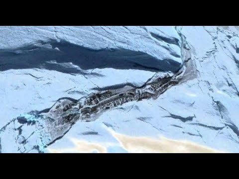 Виртуальные археологи нашли в Антарктиде нечто странное.