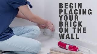 DIY DAYS - Thin Brick Accent Wall