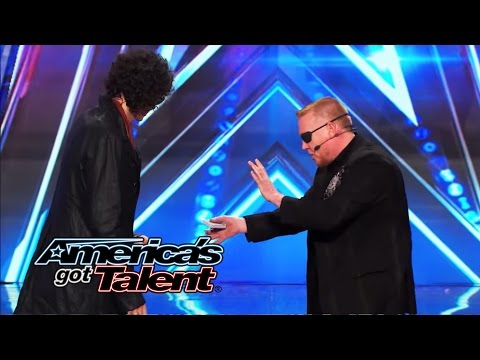 Mad Jack: Magician Uses Howard Stern for Card Trick - America's Got Talent 2014