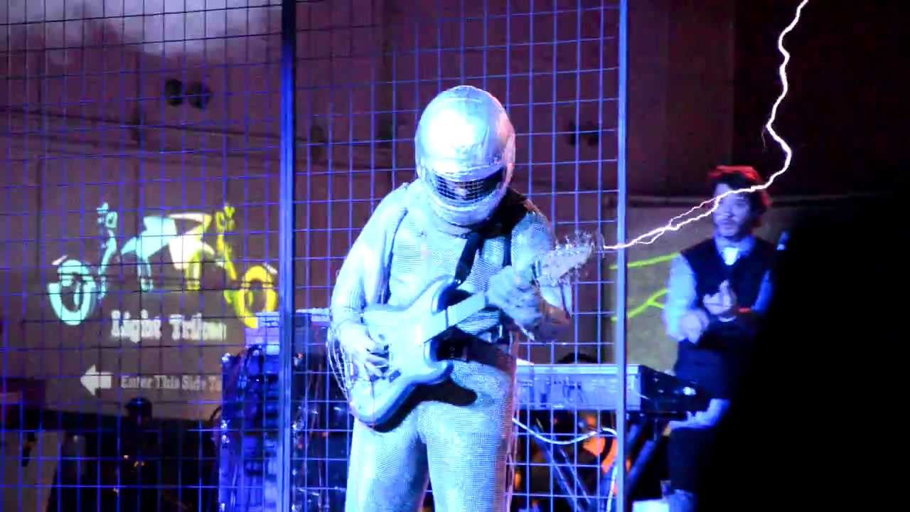 The Most Epic Tesla Coil Electric Guitar Faraday Suit Song