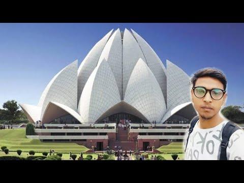 Delhi famous places India Gate and Lotus Temple