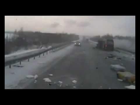 Жесть авария на трассе м-53 22 февраля