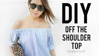 DIY Off The Shoulder Top Transformation | RELOVED | ANN LE