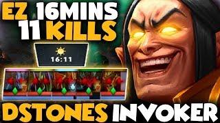 Dstones Invoker Gameplay | EZ 16mins Game So Sad For Dire Team - Dota 2 Invoker