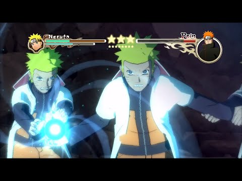 Naruto Ultimate Ninja Storm 2 MOD (60 FPS) Hokage Naruto vs Pain Boss Battle Character Swap