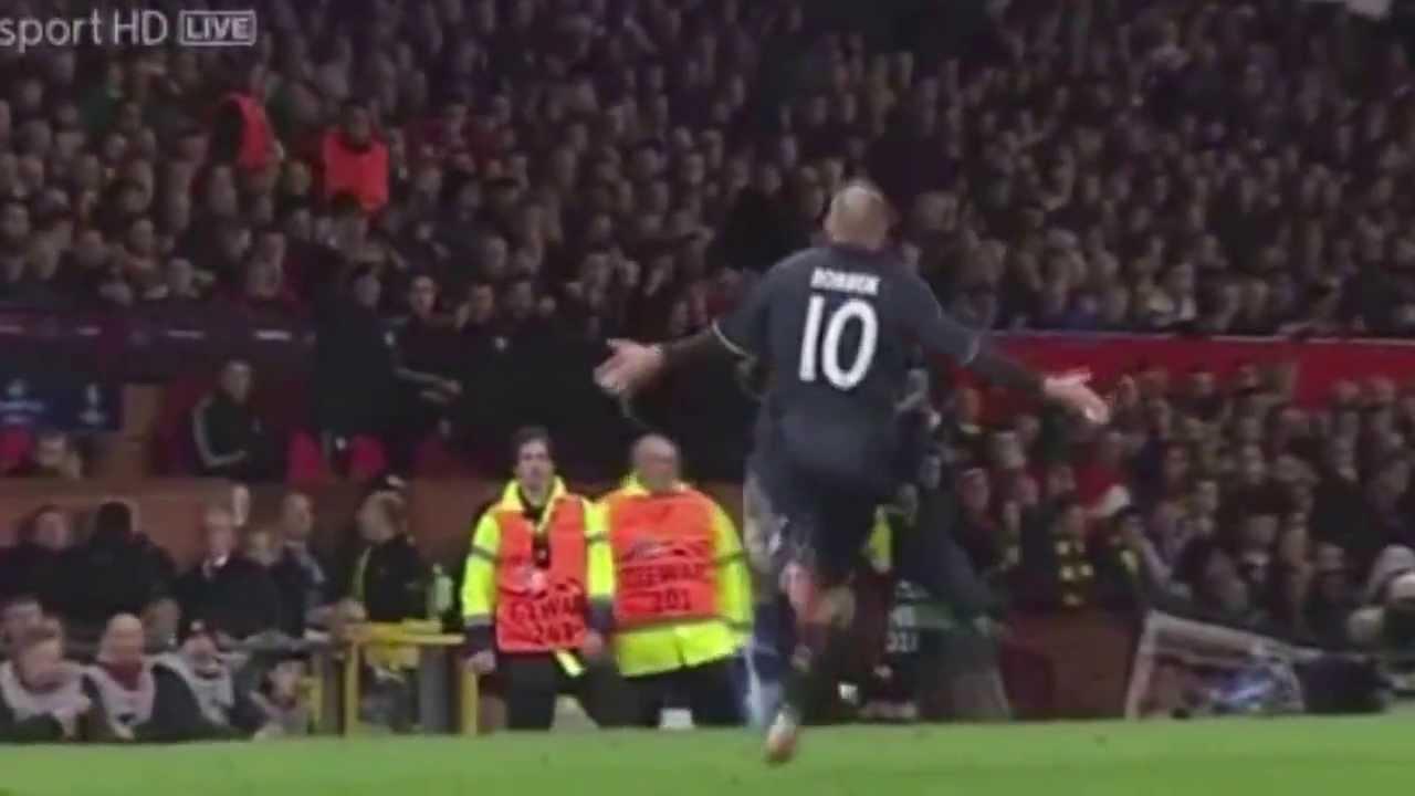 Arjen Robben's Amazing Goal against Manchester United ...