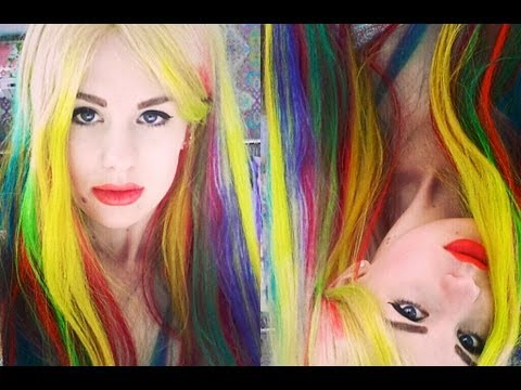 All Dolled Up- Rainbow Ombre Dip Dye Hair Tutorial!