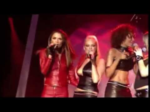 Spice Girls on stage wear elegant leather