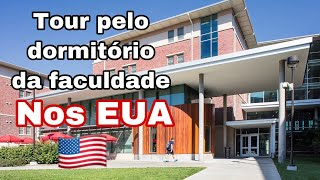 TOUR PELO DORMITÓRIO DA UNIVERSIDADE NOS EUA