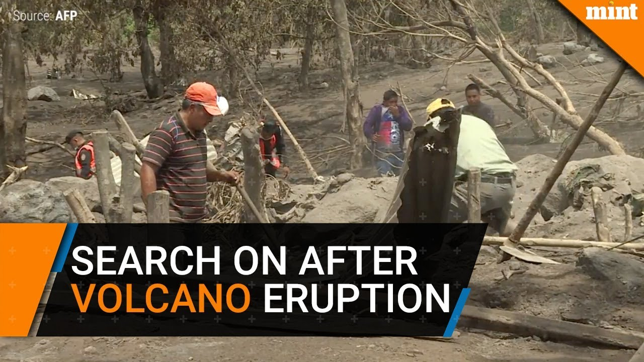 Families search for their loved ones after volcano's eruption