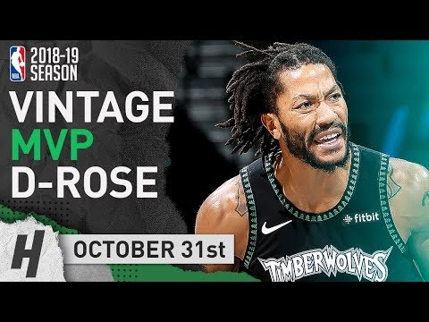 VINTAGE MVP Derrick Rose EPIC Highlights Wolves vs Jazz 2018.10.31 - 50 Points, CRAZY Career-HIGH!