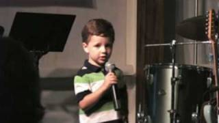 Amazing 3 Year Old Gospel Singer - Alex Forbush (Be Like Jesus).mpg
