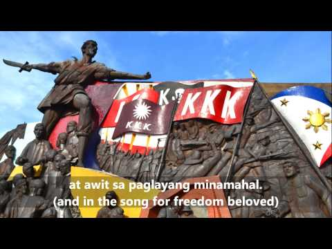 The Philippine National Anthem: 'lupang Hinirang' (tagalog english Subs) video