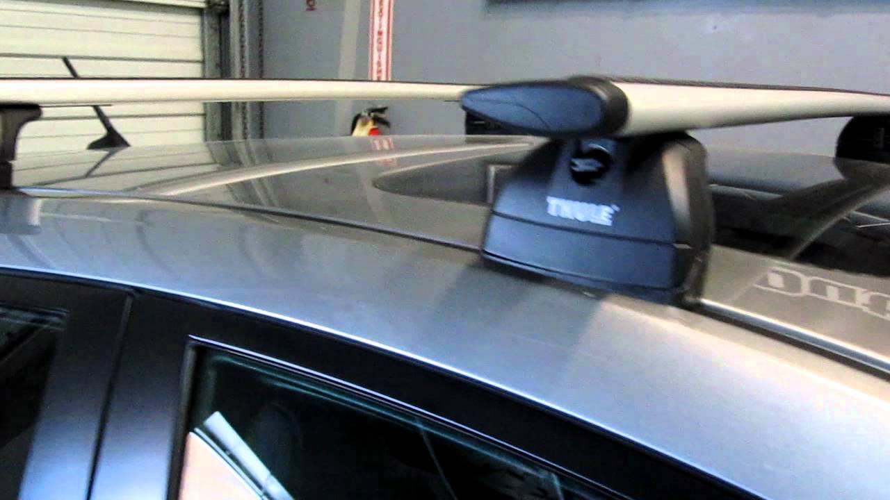 2012 Mazda 3 With Thule 460r Podium Aeroblade Base Roof Rack By Rack Outfitters Mov Youtube