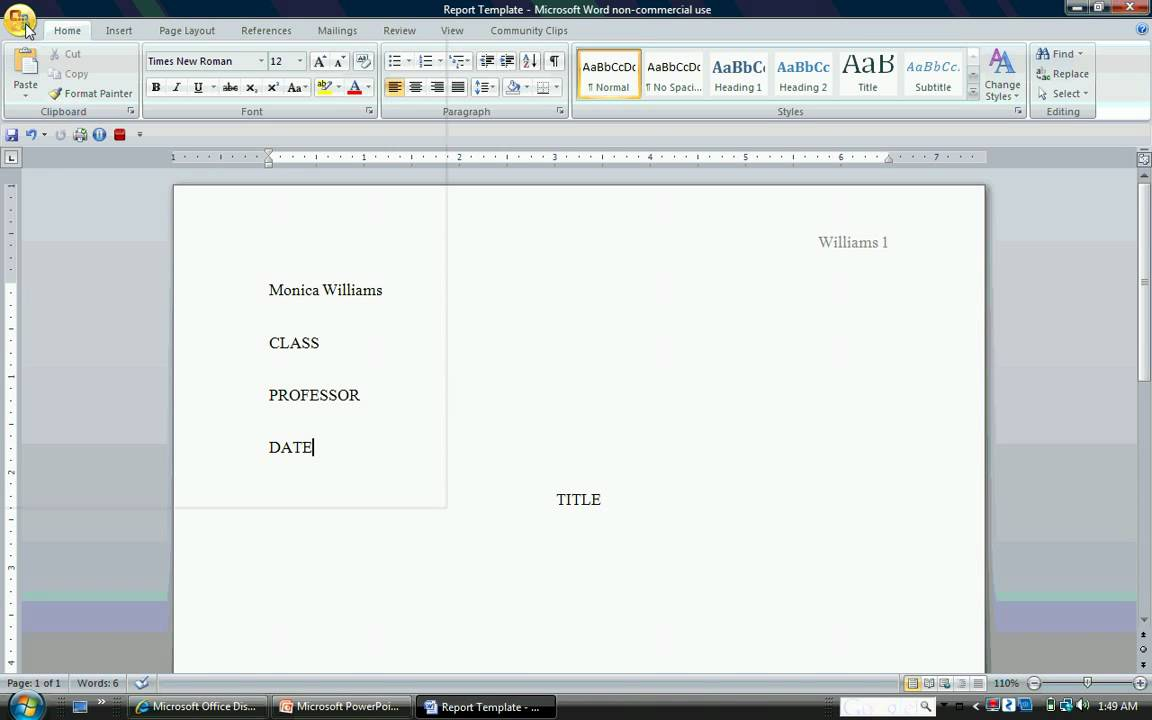 how do you create a template in word