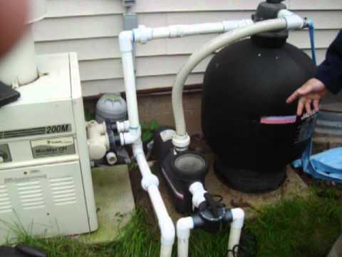 How To Winterize Pool Pump Plumbing Youtube