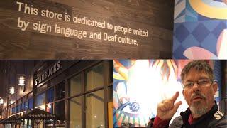 Dale Visits Starbucks First Signing Store in Washington DC | Deaf Starbucks | #starbuckssigns