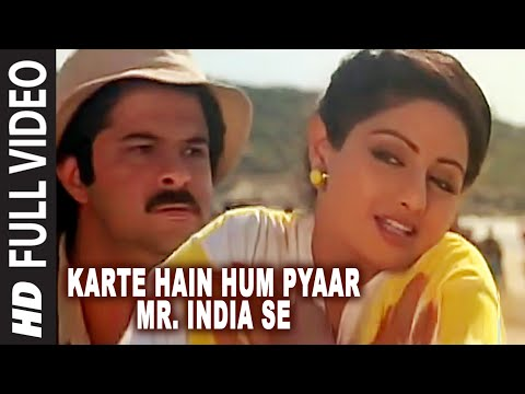 'Karte Hain Hum Pyaar Mr. India Se' Full VIDEO Song - Mr. India - Anil Kapoor,Sridevi