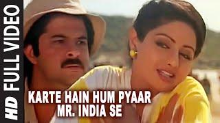 'Karte Hain Hum Pyaar Mr. India Se' Full VIDEO Song - Mr. India - Anil Kapoor,Sridevi