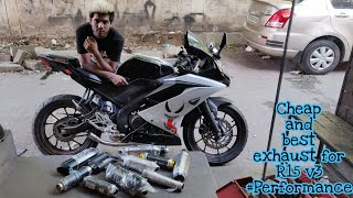 Cheap & Best Exhaust for Yamaha R15 V3 | Bought a new Exhaust for Devil