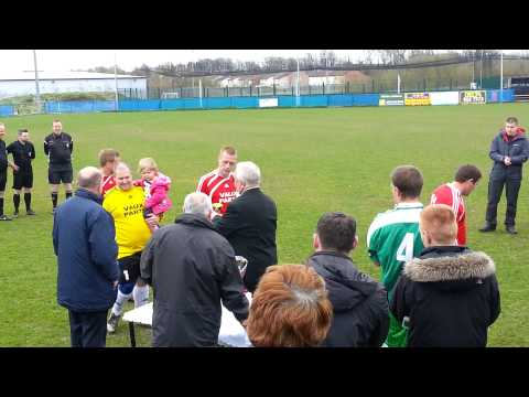 St William of York getting the trophy - 04/28/2013