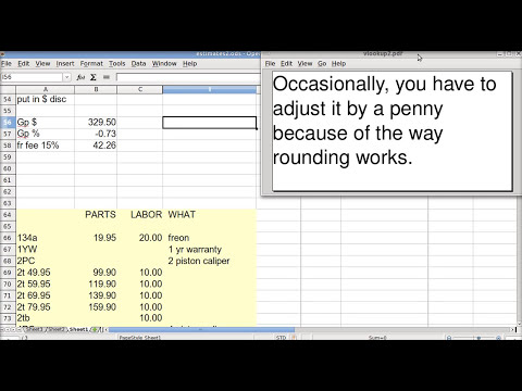 Spreadsheet  Basics (VLOOKUP INVOICE using OpenOffice Calc)