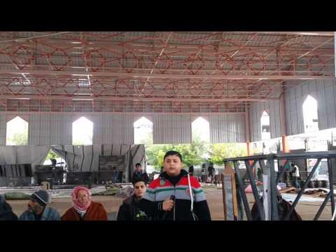 "Azan Duhur"" (call for prayer) from Masjid Imam Shafei in Gaza City"