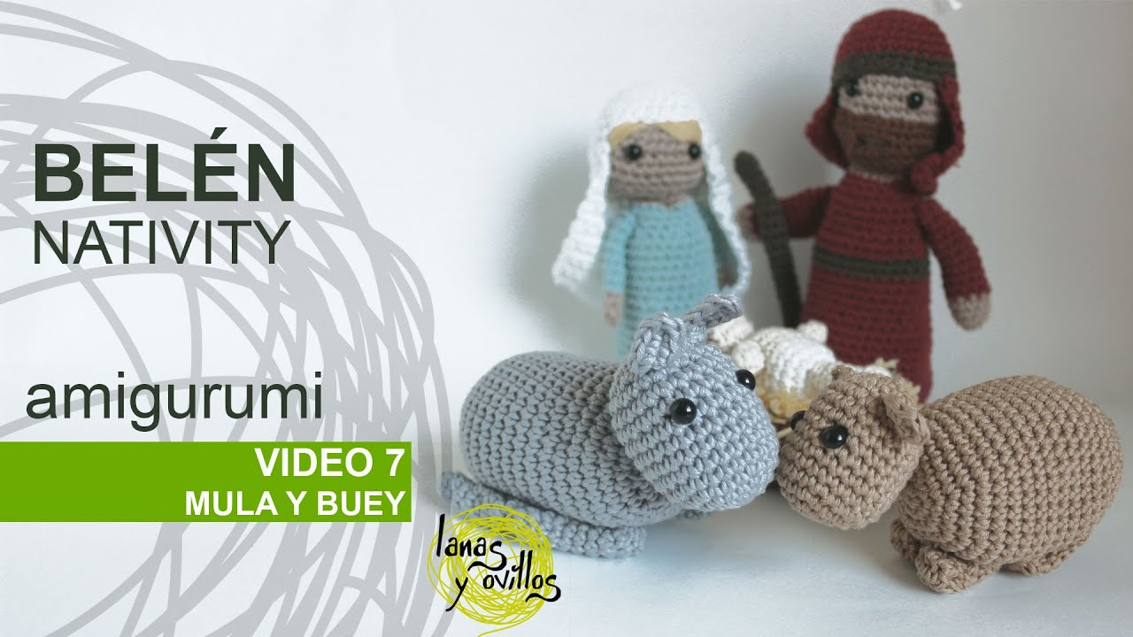 Belen Nativity Amigurumi : Tutorial Belen Amigurumi Part 7: Mula y buey - YouTube