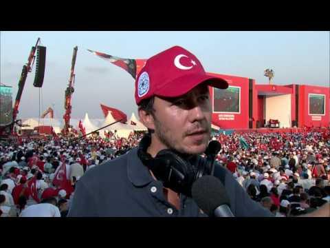 Demokrasi ve Şehitler Mitingi Amir Beja, TRT World söyleşisi
