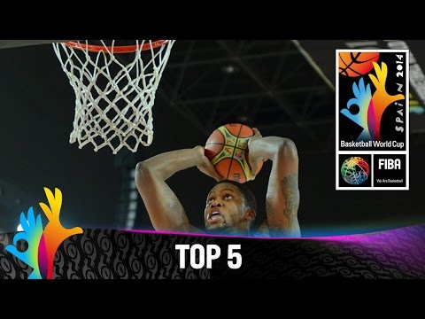 Top 5 Plays - 30 August - 2014 FIBA Basketball World Cup