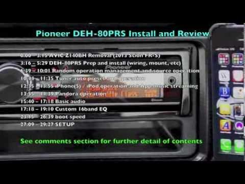 Pioneer DEH-80PRS Installation and Review