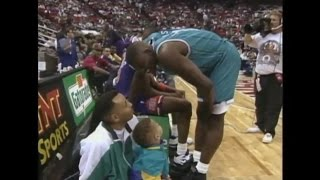 Larry Johnson - 1992 NBA Slam Dunk Contest (ft. Toddler Steph Curry)