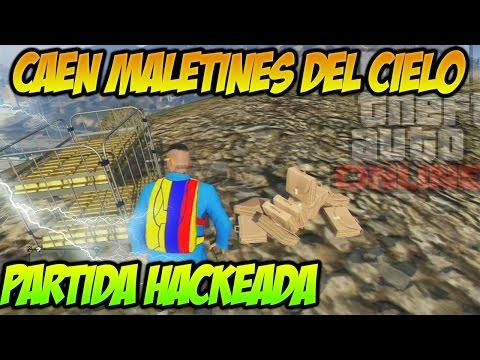 CAEN MALETINES DEL CIELO !! Partida Hackeada GTAV ONLINE Gameplay