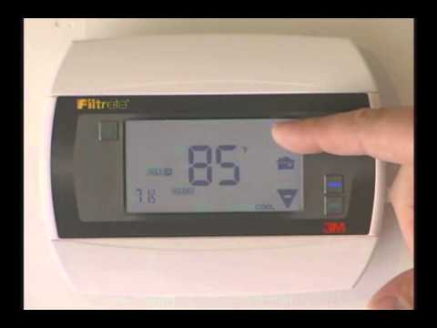 Filtrete 3M50 How to put the thermostat in manual mode.