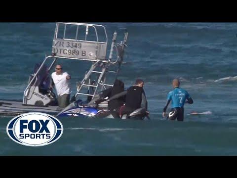SHARK ATTACK! Pro Surfer Mick Fanning encounters shark in South Africa