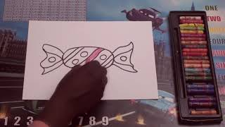 HOW TO DRAW A Chocolate EASY STEP BY STEP | Oil Pastels